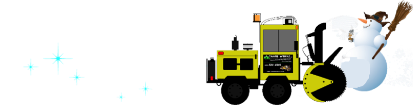 Tahoe Workz Snow Removal Snowman Cartoon